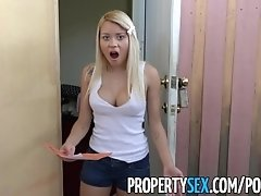 PropertySex - Horny landlord cheats on bitch wifey with sexy young tenant