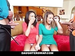 Daughter Swap- Daughters Learn Hook-up From Dad's Best Friend