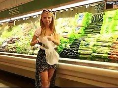 Gf Fucks Cucumber in Public Supermarket