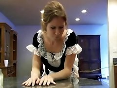 French Maid Teen Spanked For Doing Naughty Things