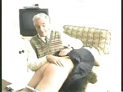 Grandpa Gives Naughty Girl A Spanking